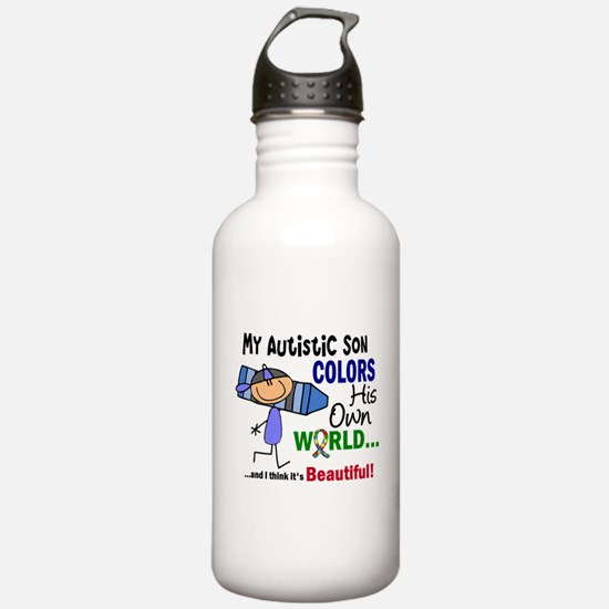 Colors Own World Autism Water Bottle