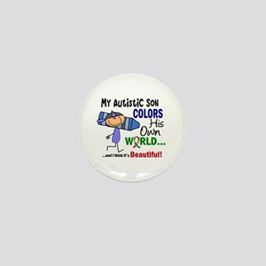 Colors Own World Autism Mini Button
