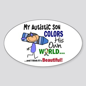 Colors Own World Autism Sticker (Oval)