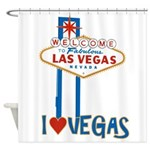 Las Vegas Shower Curtain