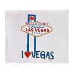 Las Vegas Throw Blanket
