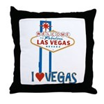 Las Vegas Throw Pillow