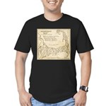 Old Cape Cod Map Men's Fitted T-Shirt (dark)