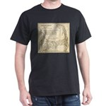 Old Cape Cod Map Dark T-Shirt
