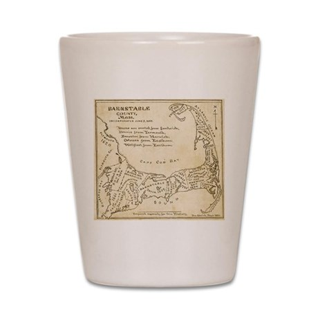 Old Cape Cod Map Shot Glass