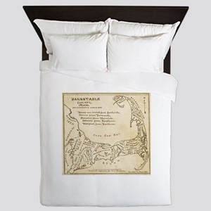 Old Cape Cod Map Queen Duvet