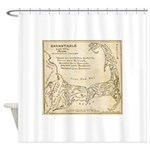 Old Cape Cod Map Shower Curtain