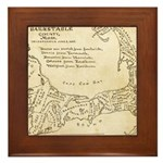 Old Cape Cod Map Framed Tile