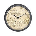 Old Cape Cod Map Wall Clock