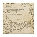 Old Cape Cod Map Tile Coaster
