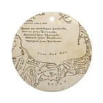 Old Cape Cod Map Ornament (Round)