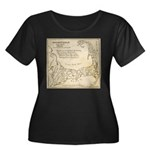 Old Cape Cod Map Women's Plus Size Scoop Neck Dark