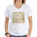 Old Cape Cod Map Women's V-Neck T-Shirt