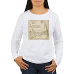 Old Cape Cod Map Women's Long Sleeve T-Shirt