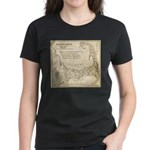 Old Cape Cod Map Women's Dark T-Shirt