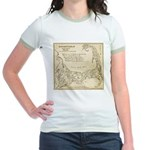 Old Cape Cod Map Jr. Ringer T-Shirt