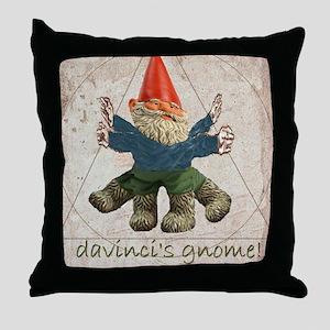 Davinci's Gnome Throw Pillow