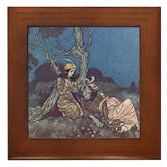 Dulac's Beauty & Beast Framed Tile