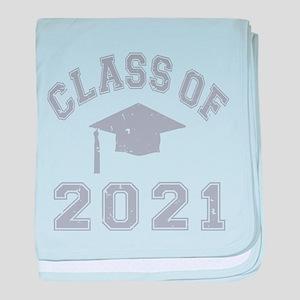 Class Of 2021 Graduation baby blanket