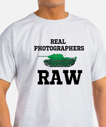 Real Photographers Shoot Raw T-Shirt