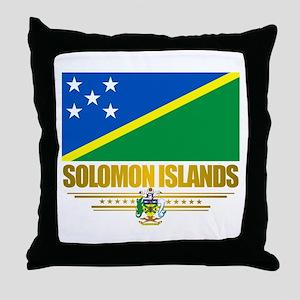"""Solomon Islands Flag"" Throw Pillow"