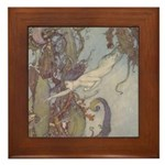 Dulac's Little Mermaid Framed Tile