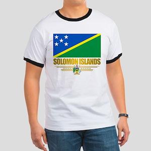 """""""Solomon Islands Flag"""" Ringer T"""