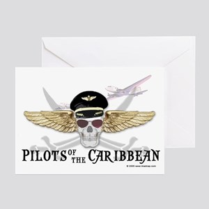 Pilots of the Caribbean Greeting Cards (Package of