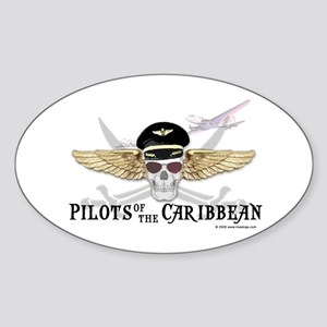 Pilots of the Caribbean Oval Sticker