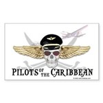 Pilots of the Caribbean Rectangle Sticker