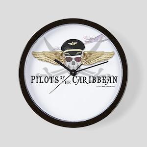Pilots of the Caribbean Wall Clock