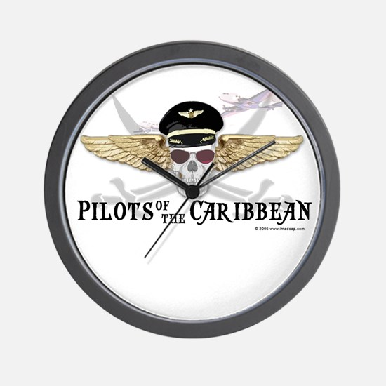Pilots of the Caribbean Wall Clock
