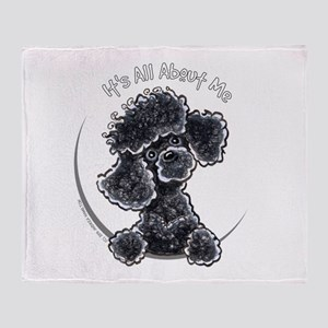 Black Poodle IAAM Full Throw Blanket