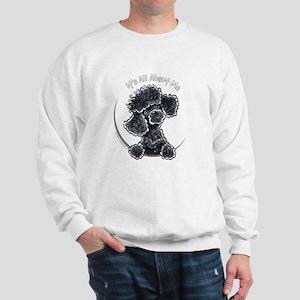 Black Poodle IAAM Full Sweatshirt
