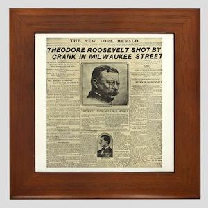 Theodore Roosevelt Shot! Framed Tile