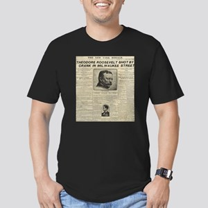 Theodore Roosevelt Shot! Men's Fitted T-Shirt (dar