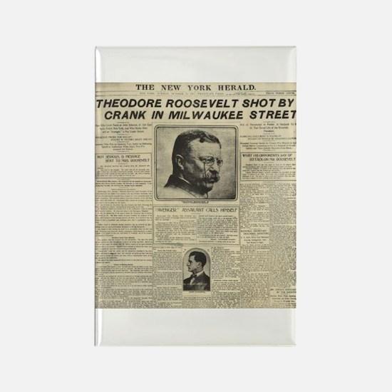 Theodore Roosevelt Shot! Rectangle Magnet