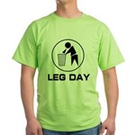 Leg Day Puke Green T-Shirt