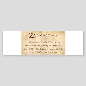 2nd Amendment Vintage Sticker (Bumper)