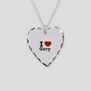I love Gary Necklace Heart Charm