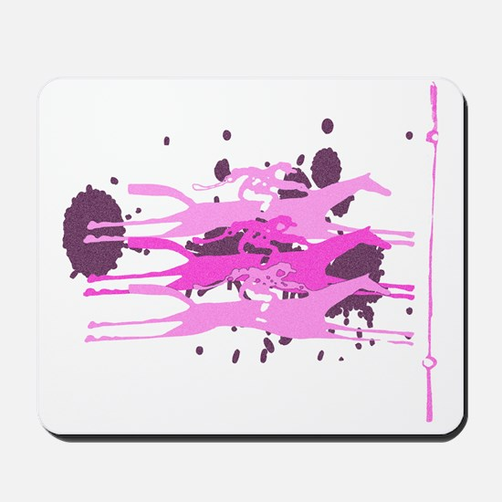 Horse Racing in Pink Mousepad