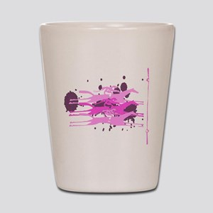 Horse Racing in Pink Shot Glass