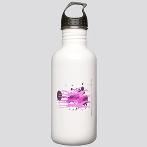 Horse Racing in Pink Stainless Water Bottle 1.0L