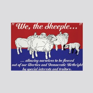 """""""We the Sheeple..."""" Rectangle Magnet"""