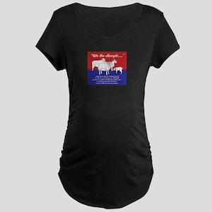 """We the Sheeple..."" Maternity Dark T-Shirt"