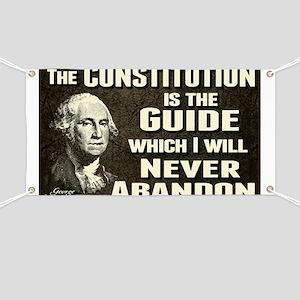 Washington Quote - Constitution Banner