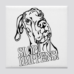 Slop Happens UC B&W Tile Coaster