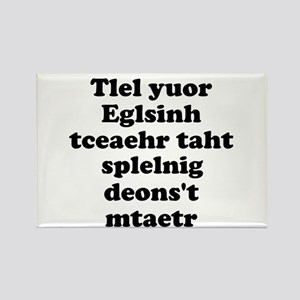 English Teachers Spelling Rectangle Magnet