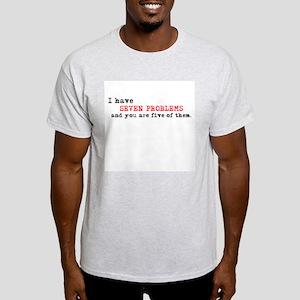 Seven Problems Ash Grey T-Shirt