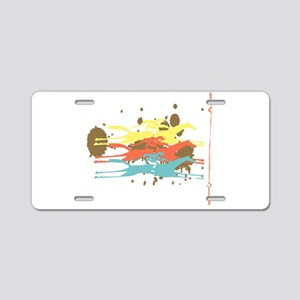Horse racing Party Aluminum License Plate